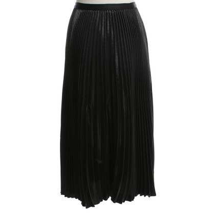 Diane von Furstenberg Plisseé-skirt in Black / Metallic