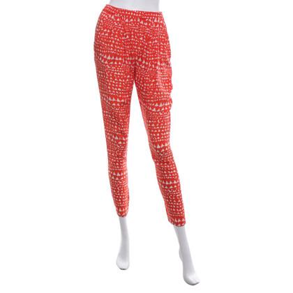 Stella McCartney Silk trousers with pattern