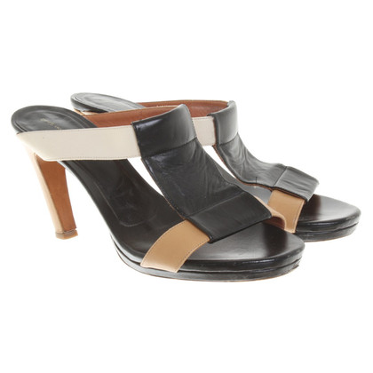 Dries van Noten Sandali in nero / beige / crema