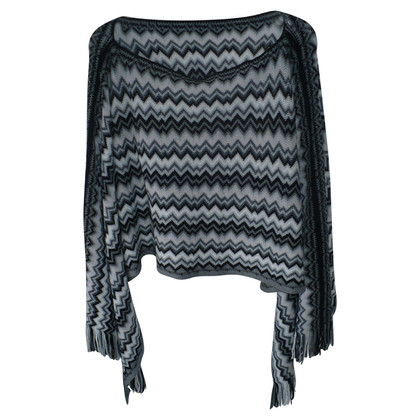 Missoni Poncho in grey/white