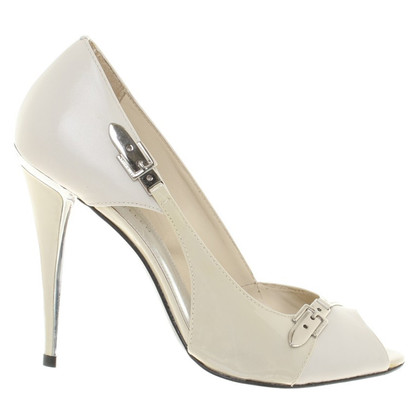 Karen Millen Peep-dita dei piedi in crema bianca