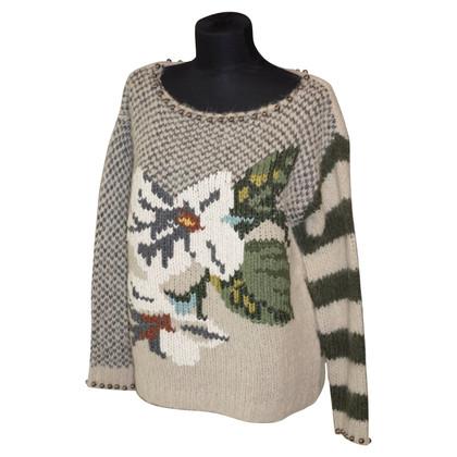 Twin-Set Simona Barbieri Grobstrick sweater with applications