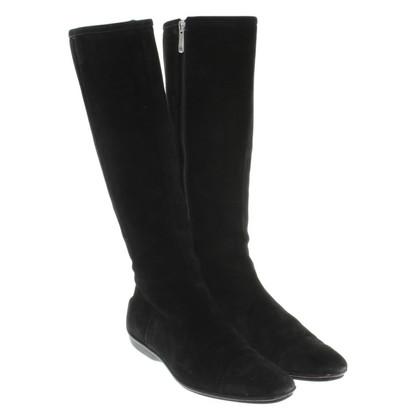 Gucci Suède laarzen in zwart