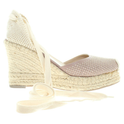 Valentino Wedges in blush pink