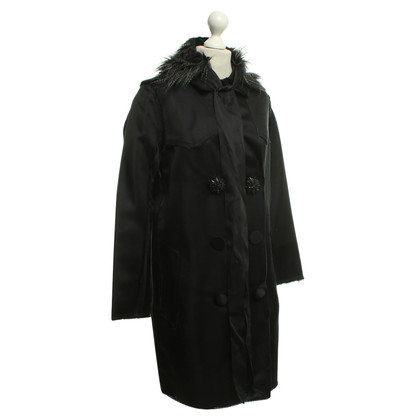 Lanvin for H&M cappotto di seta in nero