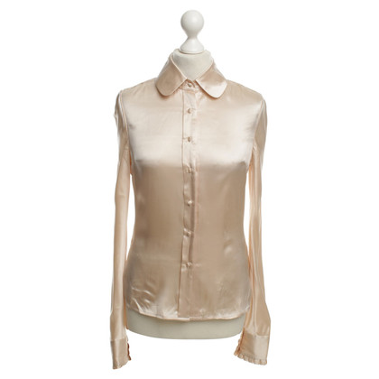 By Malene Birger Seidenbluse in Nude