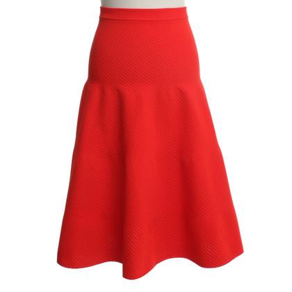 Victoria Beckham High-Waist-skirt in red