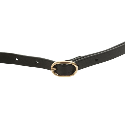 Stefanel Leather belt with chain