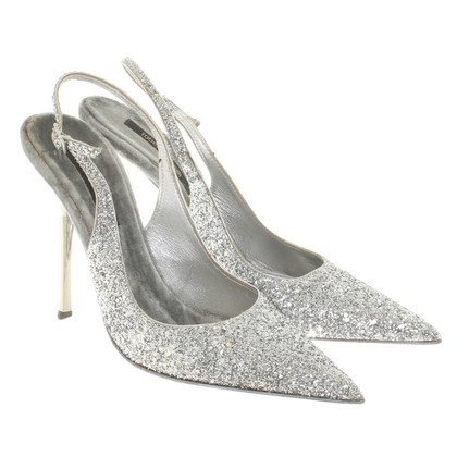Roberto Cavalli Silver colored Slingbacks