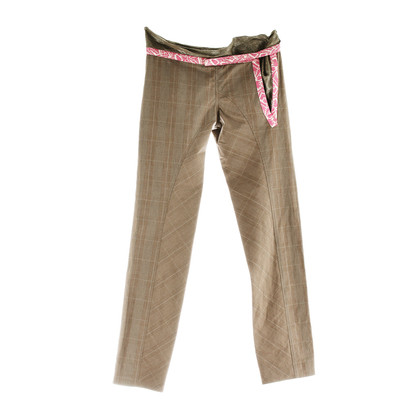 Marni Trousers Prince of Wales check with Brocade