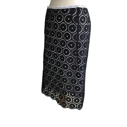 Schumacher skirt from thread embroidery fabric