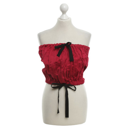 Prada Bustier top in red