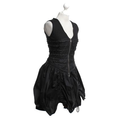 Stefanel Sportliches Kleid in Schwarz