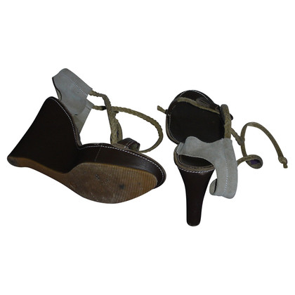 Patrizia Pepe Leather wedge sandals