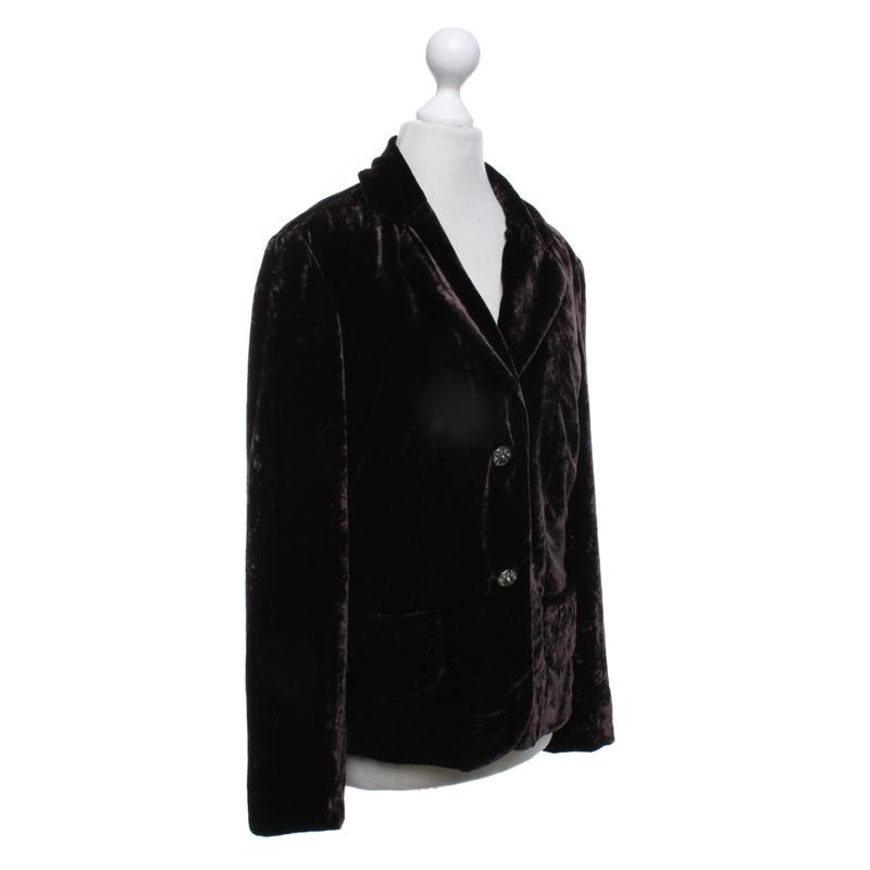 ... Steffen Schraut Velvet blazer in dark brown