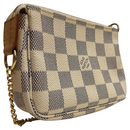 Louis Vuitton Pochette aus Damier Azur Canvas