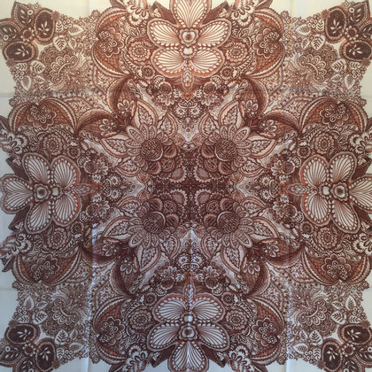 Furla Foulard en soie avec impression