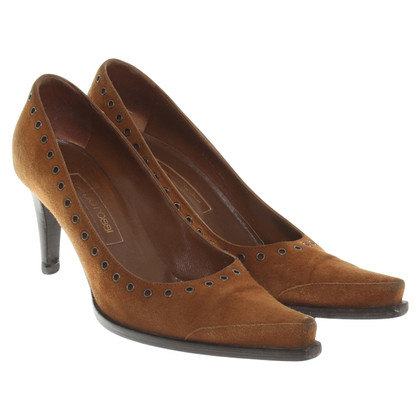Sergio Rossi Suede pumps in Brown