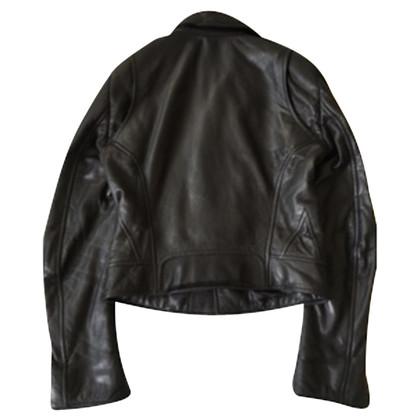 Balenciaga La giacca di pelle stile biker