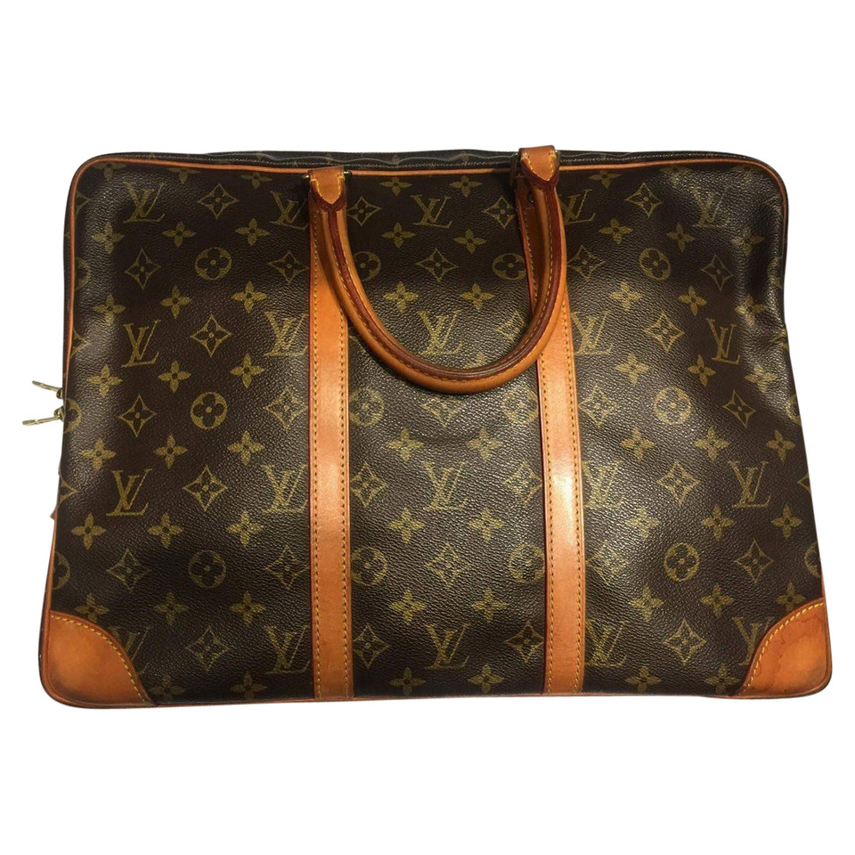 louis vuitton laptop tasche aus monogram canvas second hand louis vuitton laptop tasche aus. Black Bedroom Furniture Sets. Home Design Ideas