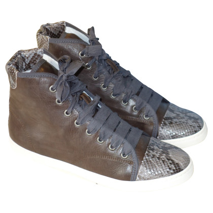 Lanvin High-top sneakers python