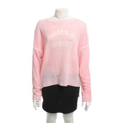 360 Sweater Cashmere sweater in pink / cream