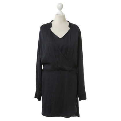 Bruuns Bazaar Dark blue wrap dress