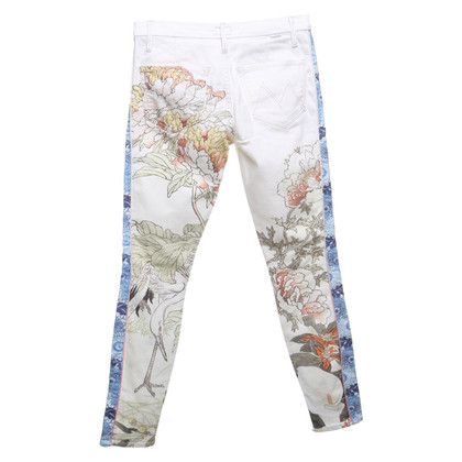 Mother trousers with floral print