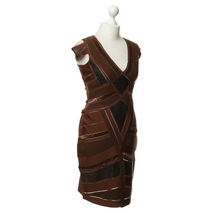 Herve Leger Condite con finiture in pelle