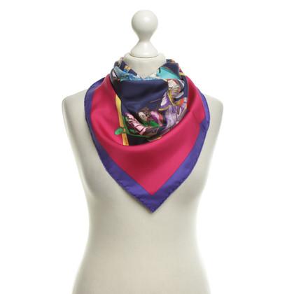 Hermès Sciarpa di seta con stampa motivo