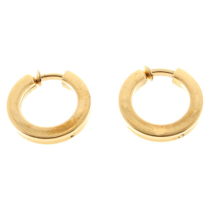 Christian Dior Gold colored clip earrings