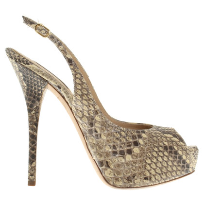 Dolce & Gabbana pumps in python leather look