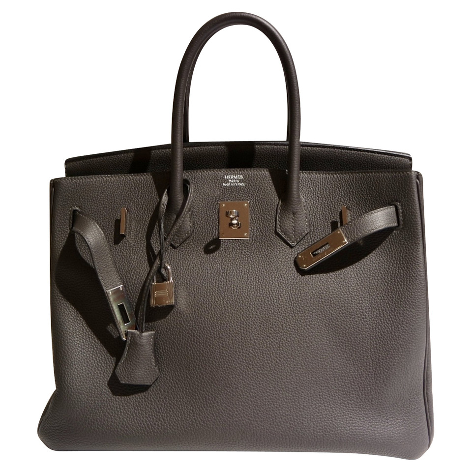 herm s hermes birkin 35 graphite buy second hand herm s hermes birkin 35 graphite for 13. Black Bedroom Furniture Sets. Home Design Ideas