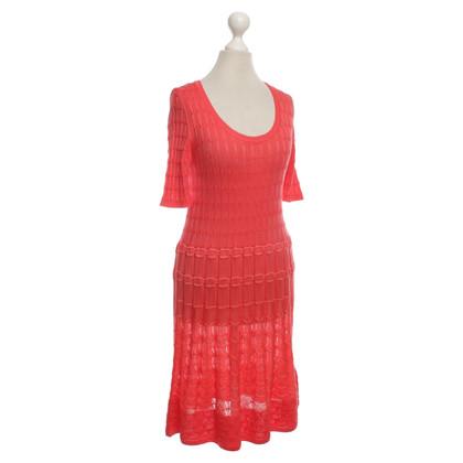 Missoni Korallrotes knit dress