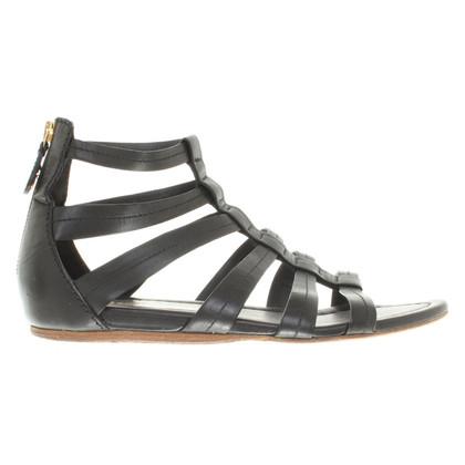 Car Shoe Sandals in black