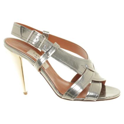 Lanvin Silberfarbene Sandaletten