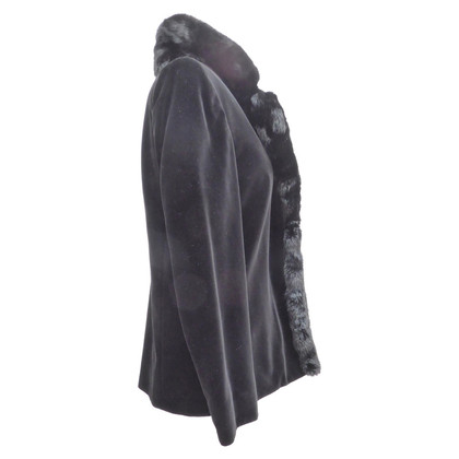 Valentino Velvet blazer with fur trim