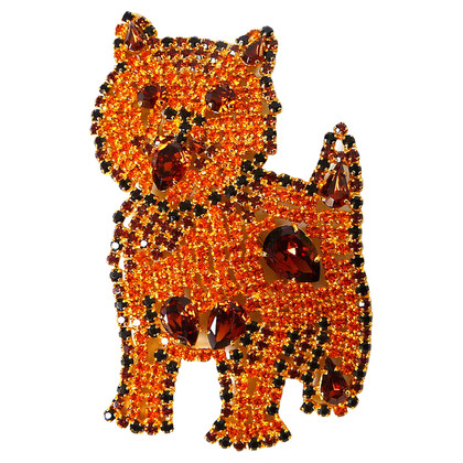 Escada  Brooch with cat motif