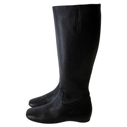 Christian Louboutin Zeer zeldzame zwarte platte laarzen - 37