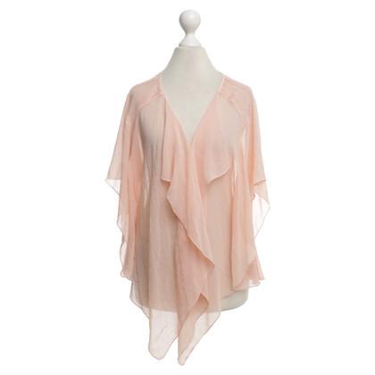 Armani blouse zalm