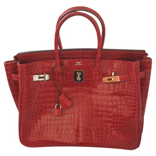 0dc0324d55a9f Hermès Birkin Bag 35 made of alligator leather - Second Hand Hermès ...