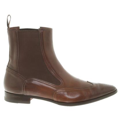 Santoni Chelsea boots di pelle