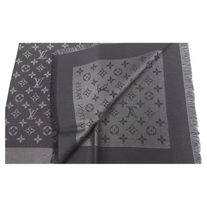 Louis Vuitton Panno Monogram Shine in nero / argento