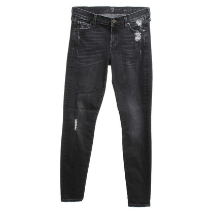 7 For All Mankind Skinny jeans in zwart