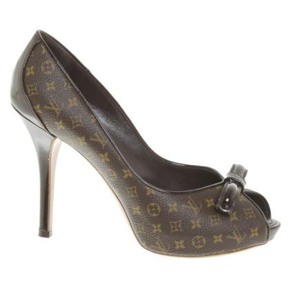 Louis Vuitton Peep-dita dei piedi con motivo Monogram