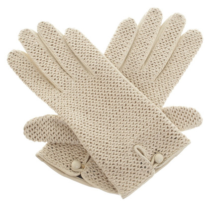 Other Designer Roeckl - crochet gloves with leather trim
