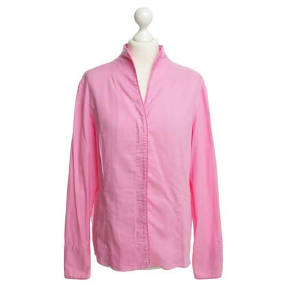 Van Laack Cotton blouse in pink