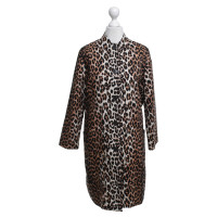 Ganni Coat with leopard pattern
