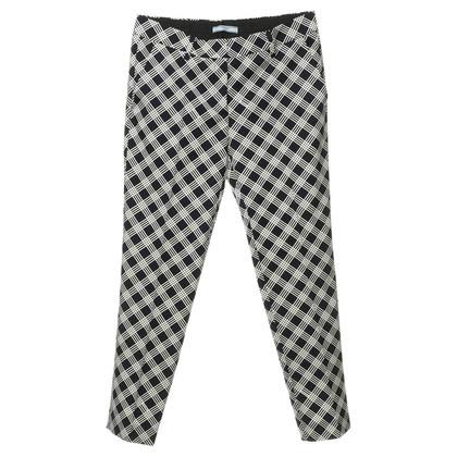 Prada Pantaloni a sigaretta con pattern plaid