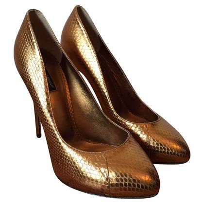Dolce & Gabbana Pumps in Bronzefarben